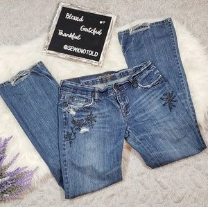 American Eagle Outfitters Distressed Hipster Jeans